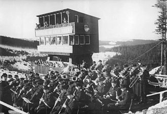 Oberhof, Germany - The Band of the Berlin People's Police (Orchester der Berliner Volkspolizei) in Oberhof.
