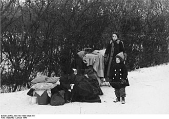 German evacuation from East-Central Europe near the end of World War II - Refugees, Upper Silesia, January 1945