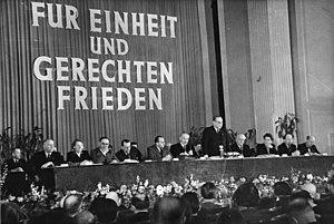 German People's Council - Meeting of the first People's Council, March 1949