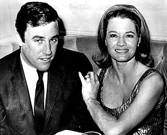 Burt Bacharach - With actress-wife Angie Dickinson in 1965