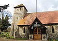 Bush End, Essex, England ~ St John Evangelist exterior ~ porch from south 01.jpg