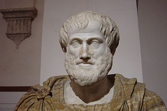 Philosophy of education - Bust of Aristotle. Roman copy after a Greek bronze original by Lysippos from 330 B.C.