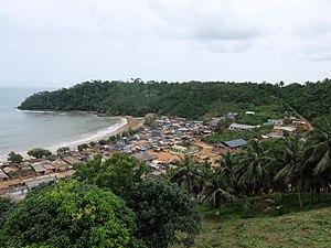 Butre, Ghana - Butre, seen from Fort Batenstein