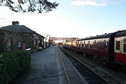 Butterley railway station, Derbyshire, England -platform-19Jan2014.jpg