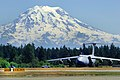 C-5 Galaxy aircraft taxis after arriving for Air Mobility Rodeo 2011 on Joint Base Lewis-McChord, July 23, 2011.jpg