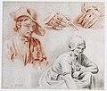 C.J. van Baar van Slangenburgh - Studies van een jongen, een jonge vrouw en een paar handen.jpg