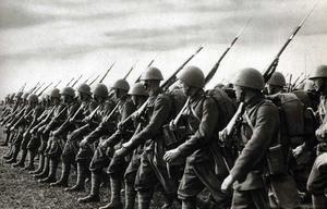 Czechoslovak Army - Czechoslovak infantry armed with Puška vz. 24 rifles
