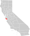 California county map (Santa Cruz County highlighted).svg
