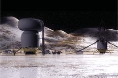 Vue d'artiste d'une base sur Callisto.