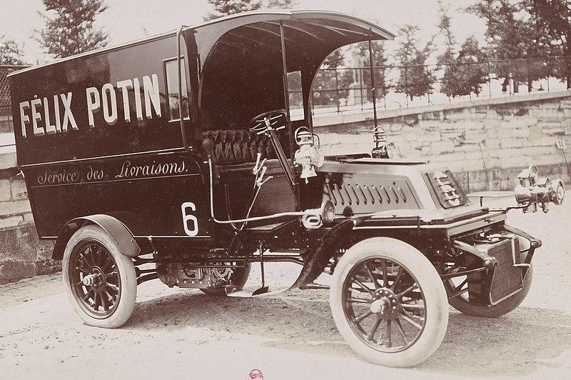 Fichier:Camion de livraison De Dion-Bouton pour Félix Potin, en 1905.jpg