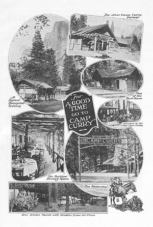 Curry Village, California - A 1921 advertisement for Camp Curry.