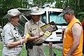 Campground hosts and visitor, July 2014--Warren Bielenberg (26244955268).jpg