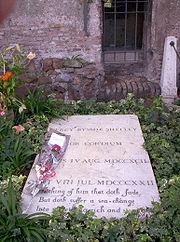 La tomba di Shelley a Roma