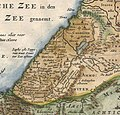 "Canaan. 1657 Visscher Map of the Holy Land or the ""Earthly Paradise"" - Geographicus - Gelengentheyt-visscher-1657 (cropped).jpg"