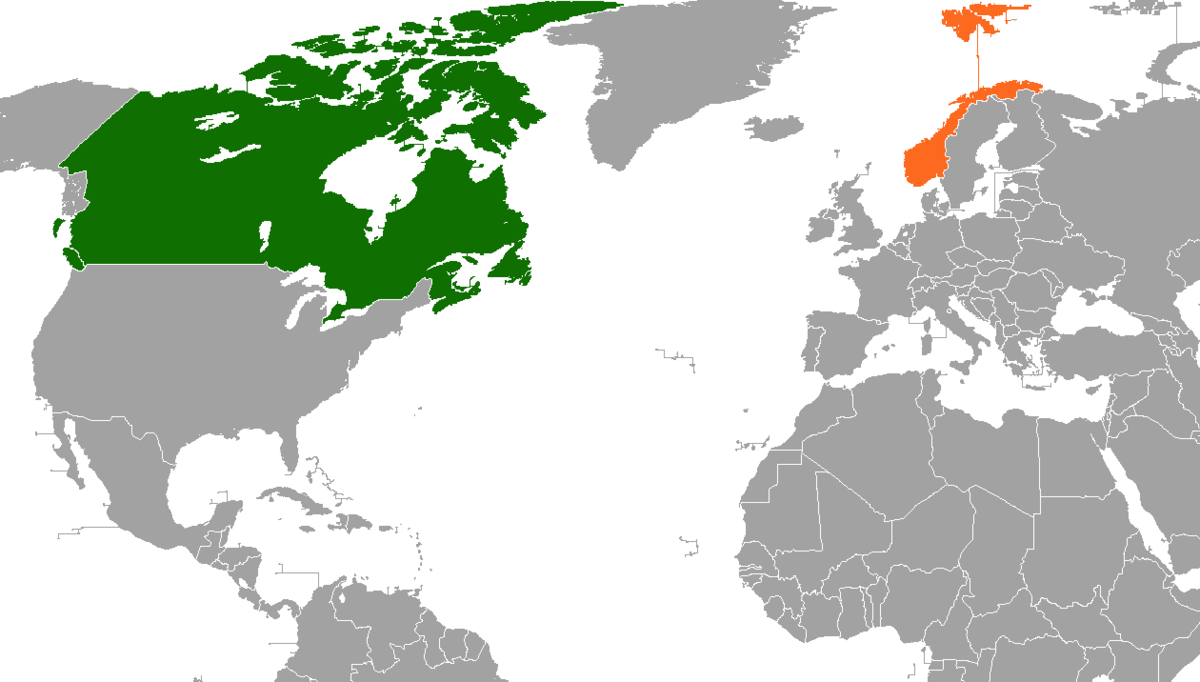 CanadaNorway Relations Wikipedia - Norway map wiki
