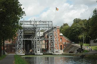 Houdeng-Gœgnies - Lift 1 (at Houdeng-Goegnies) on the old Canal du Centre - Belgium