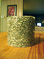 Candle made out of dollar bills.jpg