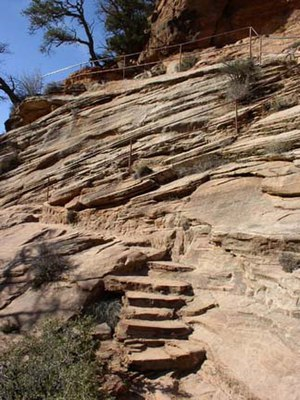 National Register of Historic Places listings in Zion National Park - Image: Canyon Overlook Trail NPS