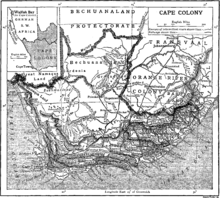 Map of the Cape Colony.