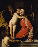 Caravaggio - Holy Family with St. John the Baptist (Met).jpg