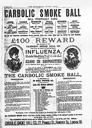Carlill v Carbolic Smoke Ball Co - Image: Carbolic smoke ball co