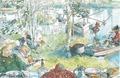Carl Larsson - Kräftfångst - Ett hem - 1899.tif