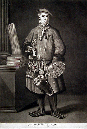 Expedition to Lapland - Image: Carl Linnaeus dressed as a Laplander