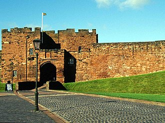 Carlisle Castle - Entrance to Carlisle Castle. (De Ireby's tower)