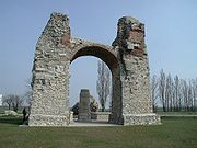 Heidentor (pagan gate), at Carnuntum.