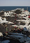 Carrier Air Wing 17 aircraft on USS Carl Vinson (CVN-70) in March 2015.JPG
