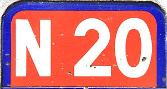 Route nationale 20 - Streetsign of N20