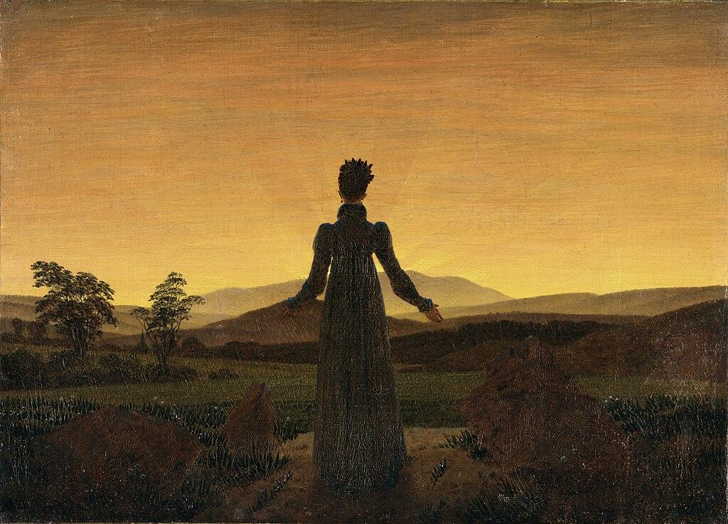 File:Caspar David Friedrich - Frau vor untergehender Sonne ...