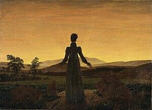 Museum Folkwang - Image: Caspar David Friedrich Frau vor untergehender Sonne