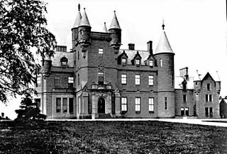 Buchanan Castle Ruined country house in Scotland