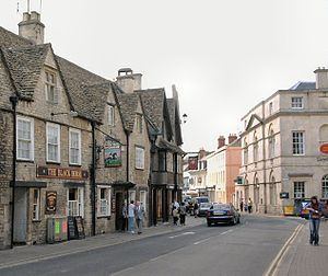 Cirencester - Cotswold stone buildings in Castle Street