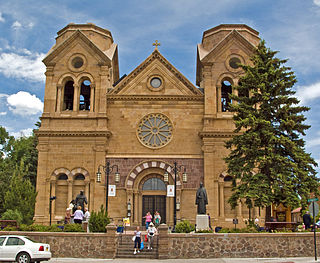Cathedral Basilica of St. Francis of Assisi (Santa Fe) Church in New Mexico, United States