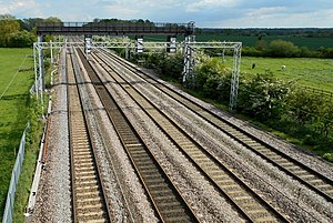 Quadruple track - Quadruple track section of the West Coast Main Line, England