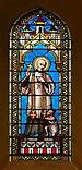 Cauterets 65 Eglise Vitrail Maumejean 1889 St François-Xavier 2014.jpg