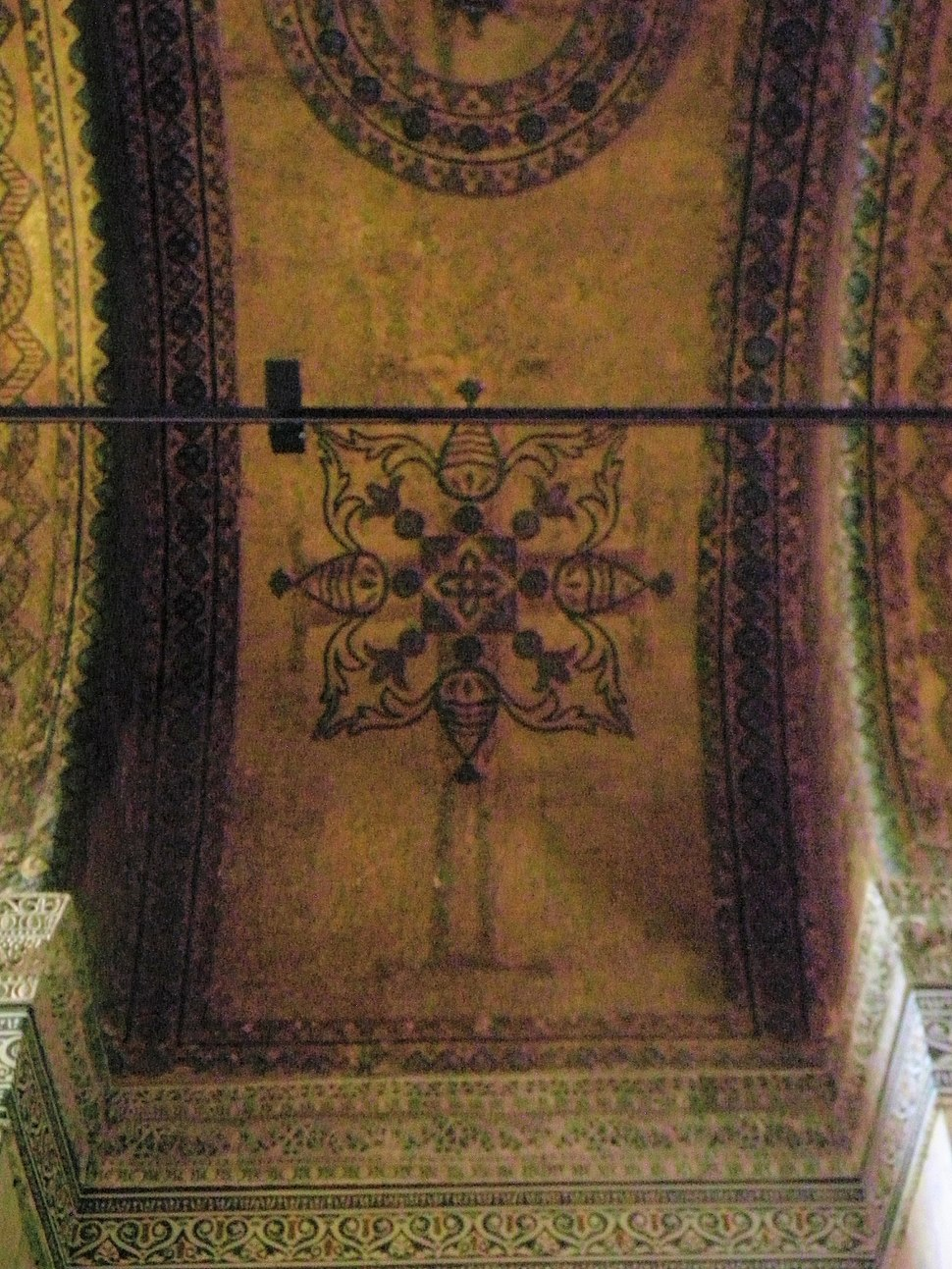 Ceiling decorations in Hagia Sofia