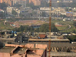 Connaught Place, New Delhi - View of the Central Park and Inner Circle of CP