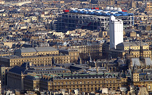Centre Georges Pompidou from the Tour Montparnasse 2007.jpg