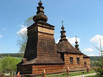 Skwirtne - Wooden church in Skwirtne