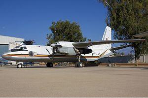 Chadian Air Force -  An Antonov An-26 on the tarmac