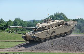 Continuous track - A British Army Challenger 1 tank