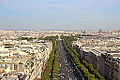 Champs-Élysées from the Arc de Triomphe, 21 June 2014.jpg