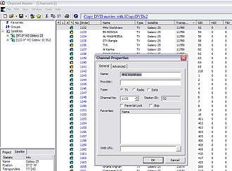 FTA receiver - Channel Master editor