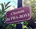 Chapeiry - Chemin du Pra-Bovi (plaque).jpg