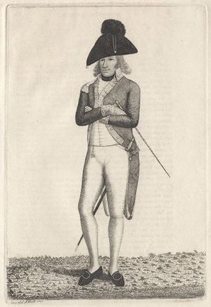 British Army during the Napoleonic Wars - Colonel the Right Hon. Charles Lennox, 2nd Foot Guards in typical undress uniform, 1789