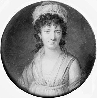 Charlotte Schimmelmann - Charlotte Schimmelmann, miniature portrait by Cornelius Høyer (c. 1800)