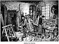 Charron-atelier - cartwright-workshop - Public domain illustration from Larousse du XXème siècle 1932.jpg